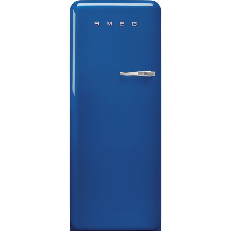 "24"" retro-style fridge, Blue, Left-hand hinge"