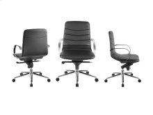 The Horizon Arm Black Eco-leather Office Chair