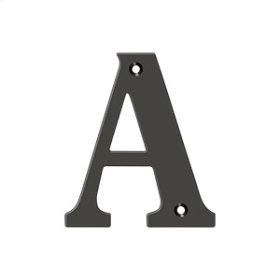 """4"""" Residential Letter A - Oil-rubbed Bronze"""
