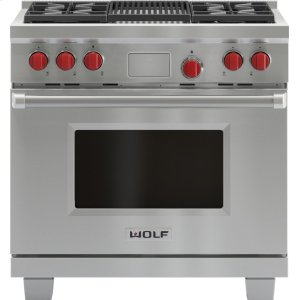 "Wolf36"" Dual Fuel Range - 4 Burners and Infrared Charbroiler"