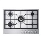 "Fisher & PaykelGas on Steel Cooktop, 30"" 5 Burner"