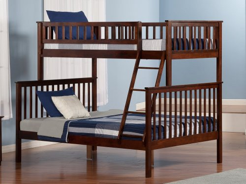 Woodland Bunk Bed Twin over Full in Walnut