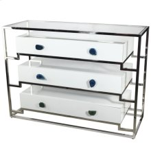 Stainless Steel Cabinet With 3 Drawers