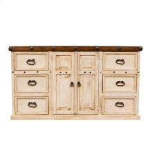 White/Walnut Don Carlos Dresser