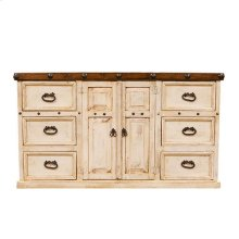 White/Walnut Don Carlos Dresser