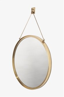 "Latchet Wall Mounted Round Mirror 23 1/2"" x 1 1/2"" x 37 5/8"" STYLE: LTMR01"