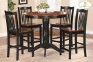 5-Piece Pack Counter Height Set Table : 42 Dia x 36H Chair : 18 x 20.25 x 40H Product Image