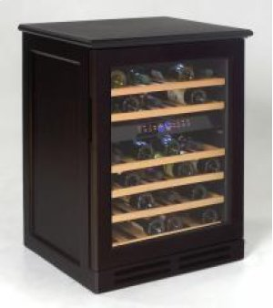 Model WCR534WDZD-E - Credenza Style Wood Cabinetry Dual Zone Wine Chiller