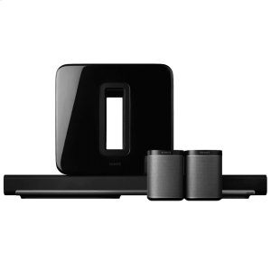 SonosBlack- System includes Playbar, Sub and 2 Play:1s