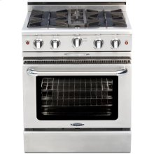 "30"" Gas Range with 4 Open Burners 25K BTU"