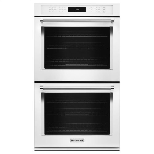 "30"" Double Wall Oven with Even-Heat True Convection - White"