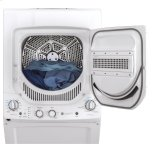 GE Ge Unitized Spacemaker® 2.3 Cu. Ft. Capacity Washer With Stainless Steel Basket And 4.4 Cu. Ft. Capacity Electric Dryer
