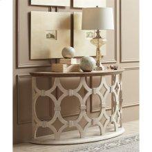 Elizabeth - Demilune Sofa Table - Smokey White/antique Oak Finish