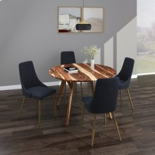 Mira/Carmilla 5pc Dining Set, Sheesham/Grey