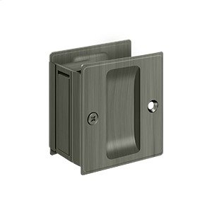 "Pocket Lock, 2 1/2""x 2 3/4"" Passage - Antique Nickel"