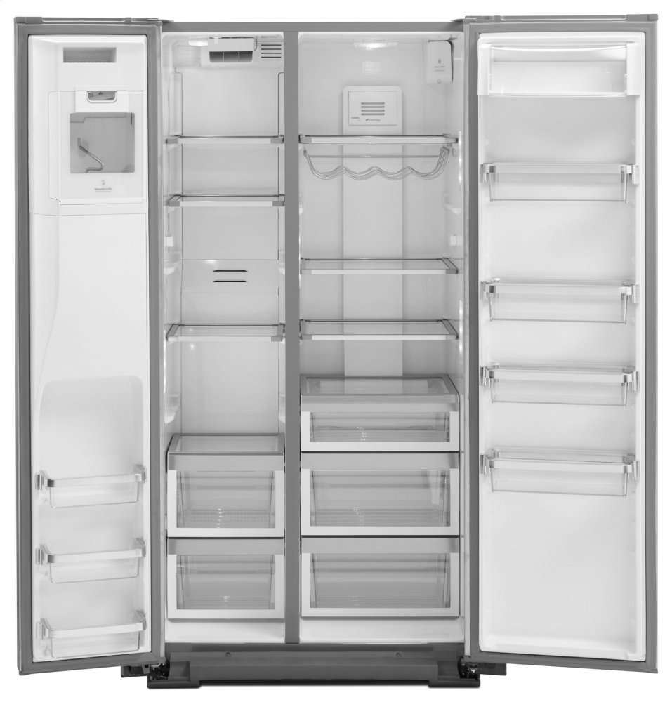 Superbe Ft. Counter Depth Side By Side Refrigerator With Exterior Ice