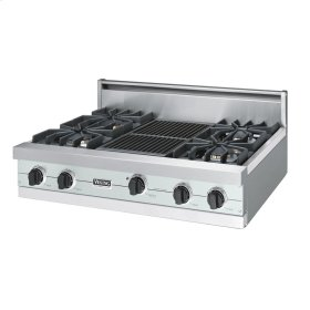 "Sea Glass 36"" Sealed Burner Rangetop - VGRT (36"" wide, four burners 12"" wide char-grill)"