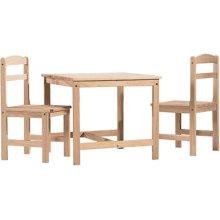 Unfinished 3pc Juvenile Table Set