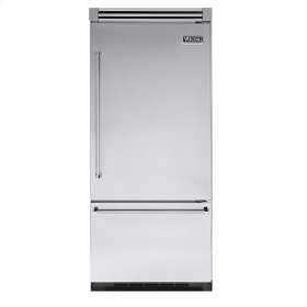"Stainless Steel 36"" Quiet Cool™ Bottom-Mount Refrigerator/Freezer - VIBB Tru-Flush™ (Right Hinge Door)"
