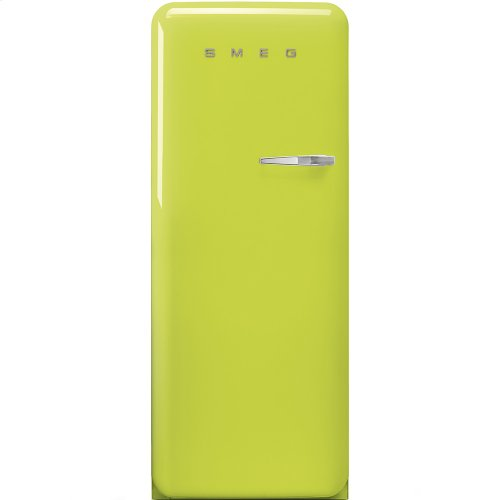 50'S Style Refrigerator with ice compartment, Lime green, Left hand hinge