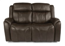 Paisley Leather Power Reclining Loveseat with Power Headrests
