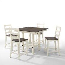 5 PIECE SET (PUB TABLE AND 4 BARSTOOLS)