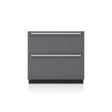 "36"" Designer Refrigerator/Freezer Drawers with Ice Maker - Panel Ready"