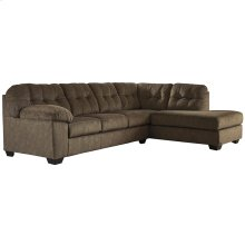 Signature Design by Ashley Accrington 2-Piece Left Side Facing Sofa Sectional in Earth Microfiber [FSD-1339SEC-2LAFS-ERT-GG]