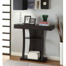 Contemporary Cappuccino Console Table Product Image