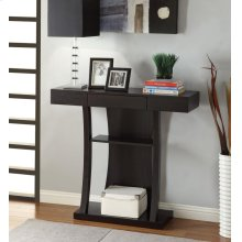 Contemporary Cappuccino Console Table