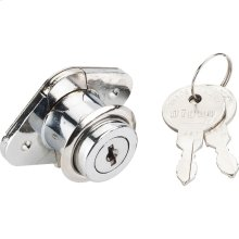 "7/8"" Chrome Drawer Lock Keyed Different"