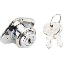 "7/8"" Chrome Drawer Lock Keyed Different"