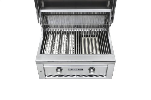 """30"""" Sedona by Lynx Built In Grill with 2 Stainless Steel Burners, NG"""
