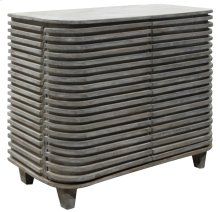 Bengal Manor Mango Wood Curved Slat Cabinet