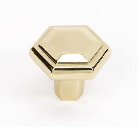 Nicole Knob A424 - Polished Brass