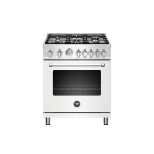 Bertazzoni30 inch All Gas Range, 5 Burners Matt White