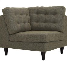 Empress Upholstered Fabric Corner Sofa in Oatmeal