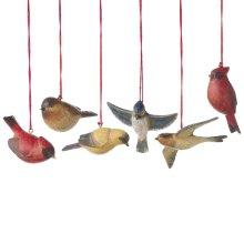 Bird Ornament (6 asstd).