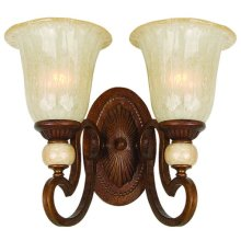 Alina Collection Two-Light Incandescent Sconce, To