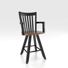 "Swivel Barstool 24"" with arms"