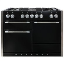 AGA Mercury 48 Dual Fuel Gloss Black with Chrome trim