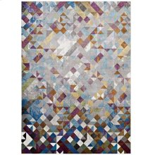 Lavendula Triangle Mosaic 4x6 Area Rug in Multicolored