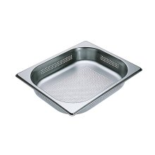DGGL 4 Perforated steam oven pan For blanching or cooking vegetables, fish, meat and potatoes and much more