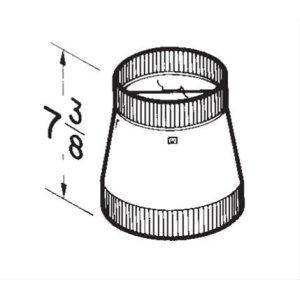 """10"""" round to 8"""" round transition / damper"""