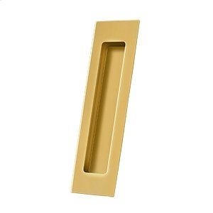"Flush Pull, Rectangular, HD, 7"" x 1-7/8"" x 3/8"", Solid Brass - PVD Polished Brass Product Image"