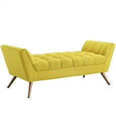 Response Medium Upholstered Fabric Bench in Sunny Product Image
