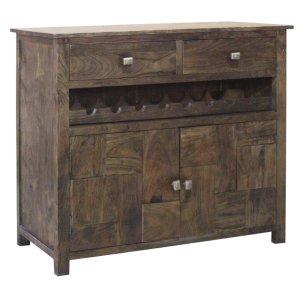 CRESTVIEW COLLECTIONSBengal manor 2 Door 2 Drawer Wine Cabinet