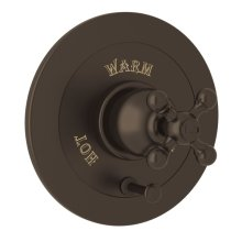 Tuscan Brass Arcana Integrated Volume Control Pressure Balance Trim With Diverter with Arcana Series Only Cross Handle
