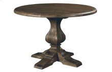 44in Round Dining Table W/wood Base-black Forest