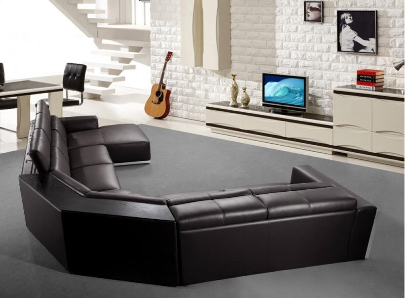 Divani Casa Tempo Leather Sectional Sofa